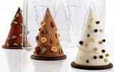 Chocoladevorm 3D kerstboom 12 cm_