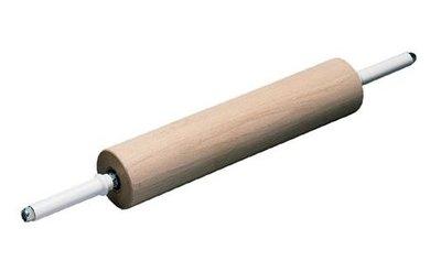 Deegrol 40 cm hout op lagers