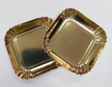 Goudbordje vierkant 65 mm (100 stuks)