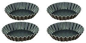 Tartelettevorm gekarteld Ø110 mm (4 stuks)