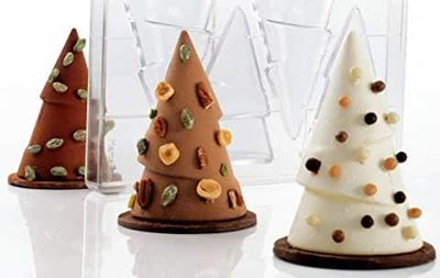 Chocoladevorm 3D kerstboom 12 cm