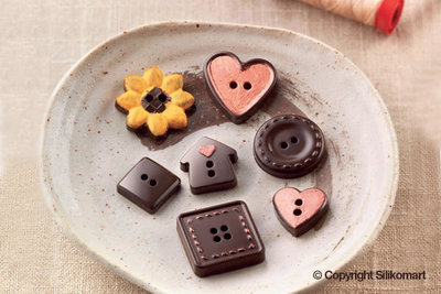 Chocoladevorm Buttons