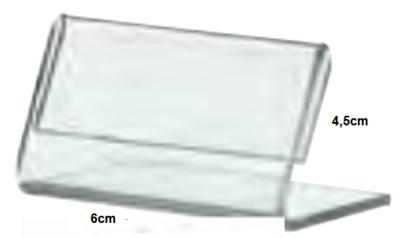 Plexiglas Prijshouder 45 x 60 mm (10 stuks)