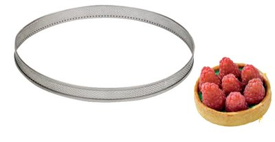 Inox ring met perforatie Ø160 h 20 mm