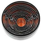 Uitstekerset metaal effen rond 25 - 95 mm (11 stuks in set)